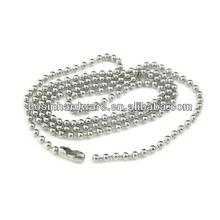 """Мода высокого качества металла 18 """"из нержавеющей стали мяч цепи ожерелье"""
