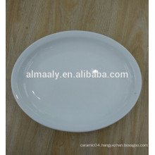 ceramic restaurant oval plate white dinner plate