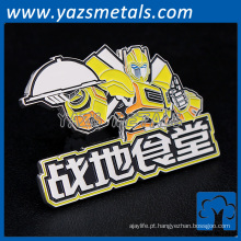 China factory custom metal hard esmalte cartoon pin badge