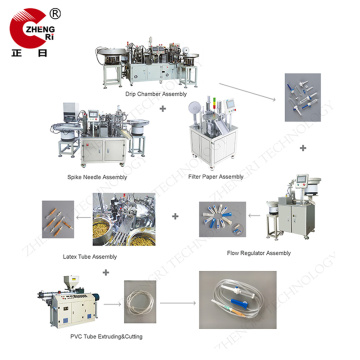 IV Infusion Set Sterilizer Assemble Manufacturing Machine