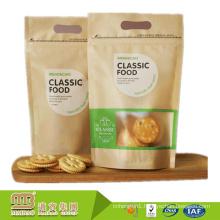 Global Market Laminated Kraft Paper Custom Logo Print Clear Plastic Bags For Cookies Packaging