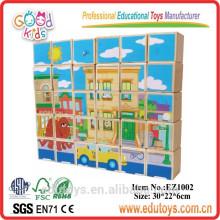 Venta al por mayor de juguete de madera Set alfabeto bloques