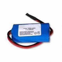 Lithium-ion Battery Pack with 3.7V Voltage, 4,400mAh Current, and Over-discharge Protection