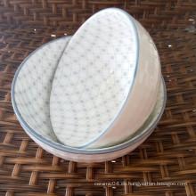 cuenco de fruta de cerámica, cuenco de sopa de porcelana