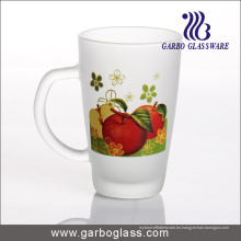 Taza de cristal de la etiqueta / taza, taza / taza del vidrio impreso, taza de cristal de la impresión (GB094212-SG-102)
