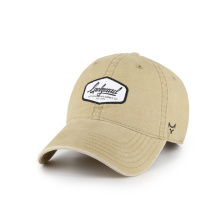 washed hat with print logo patch
