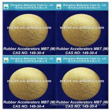 caucho vulcanizado acelerador MBT (M) para NR, IR, SBR, NBR, HR y EPDM CAS No.: 149-30-4