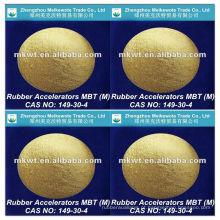 borracha de vulcanização acelerador MBT (M) para NR, IV, SBR, NBR, HR e EPDM CAS NO.: 149-30-4