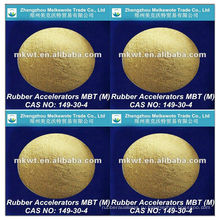 резиновой вулканизации ускоритель MBT (M) для NR, ИК, SBR, NBR, HR и EPDM КАС №: 149-30-4