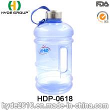 Botella de agua plástica modificada para requisitos particulares caliente 2016 de la venta 2.2L / 1.89L, botella de agua plástica grande del deporte (HDP-0618)