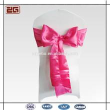Hot vendendo fábrica preço Guangzhou fabricação decoração casamento cetim cadeira faixas para o banquete do hotel partido