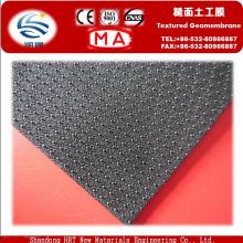 Geotembranas de HDPE con textura de dos lados para residuos
