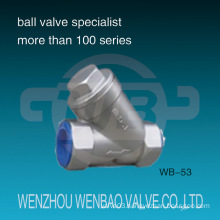 Female Threaded NPT Cast Stainless Steel Y Type Filter