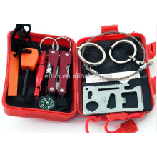 2016 new emergency outdoor portable Emergency SOS Survival Tool Pack for Camping