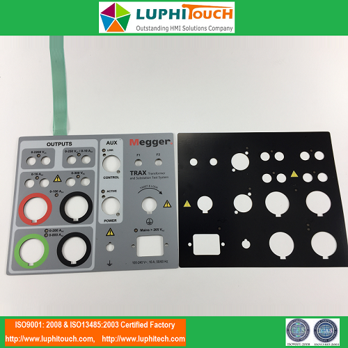 Electrical Testing Device LGF Backlighting Membrane Keypad