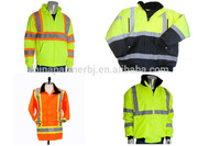 Reflective fluorescent work clothes