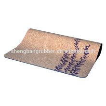 wholesale eco friendly natural rubber cork yoga mat and cork yoga mat