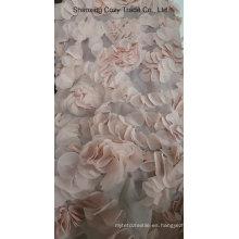 Nueva flor de láser de diseño piezas de tejido de bordado