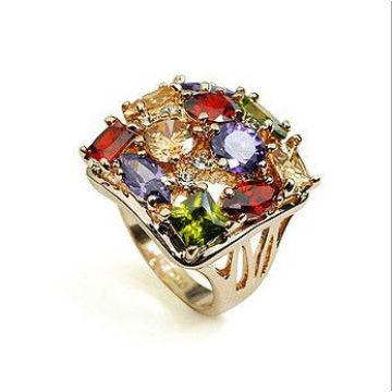 Мода золотое кольцо с бриллиантами обручальное кольцо для новобрачных ювелирные изделия OSFR0020