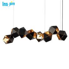 Modern Nordic Stainless steel box DNA Molecular hanging Pendant Light for Restaurant Bar Decoration
