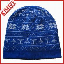 Зимние трикотажные жаккардовые шапки шапочка