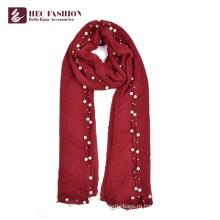 Хек Сделано в Китае пользовательские Модный Красный большой платок шарф с логотипом