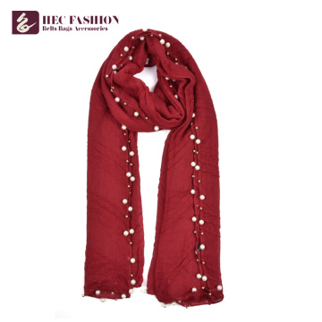 HEC a fait en Chine le grand foulard rouge à la mode de châle avec le logo