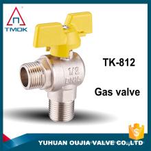 Одобренный CE горячая продажа 3/4 дюйма латунь газа шаровой клапан ручного управления шаровой клапан для Оли и воды материал латунь cw617n