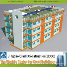 Bâtiment de plusieurs étages à structure métallique légère à faible coût