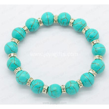 Wholesale Fashion Jewelry Turquoise 8MM round beads Bracelet