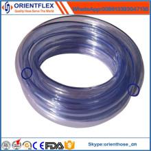 Tuyau transparent flexible de PVC de couleur claire