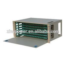 Distributeur de fibres optiques / ODF de 24 cœurs monté en rack, 24 pouces, fibre optique 24 ports, panneau de raccordement 24 cœurs