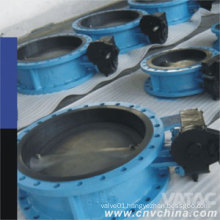 Double Eccentric PFA/PTFE Lining Steel Body Butterfly Valve