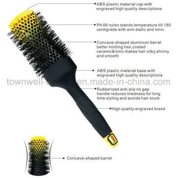 Rubberized Handle Hair Brush Multifunctional Hair Comb