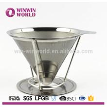 Ventas al por mayor de acero inoxidable Clever Coffee Dripper / filtro colador para café o té