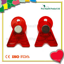 Silk Ribbon Shape Clip With Magnet (PH4219G)