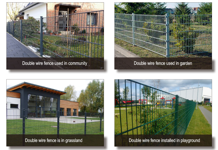 double wire fence application