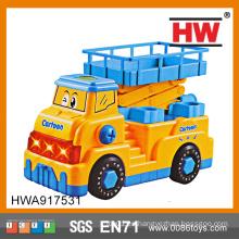 De alta calidad de 29 cm de desmontaje coche eléctrico musical grandes camiones de juguete de plástico