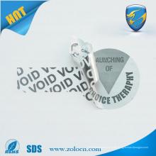 Manipulationssicheres Etikett am besten verkaufen Klebstoff Sicherheit void Aufkleber
