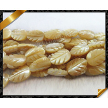 Mop Carved Leaf Shell Bead Fashion Gemstone (APS032)