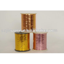 Hilo metálico de color, hilado metalizado