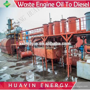 Higher output waste lube oil distillation unit