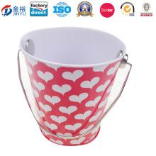 Metal Tin Bucket with Steel Handle-Bucket Shaped Tin Jy-Wd-2015122619