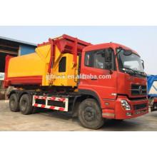 6X4 drive Dongfeng Hanging barril camión de basura / camión de basura sellado / compresor camión de basura / camión de basura compacto