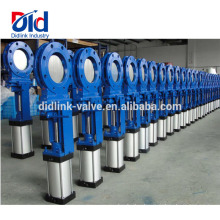 80mm Ppr Pvc Plastic Water Seal Resilient Seated Slide Manual Hydraulic Knife Gate Valve Drilling