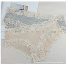 Sous-vêtements de culotte sexy de lingerie de femmes de dentelle de coton de mode faite sur commande