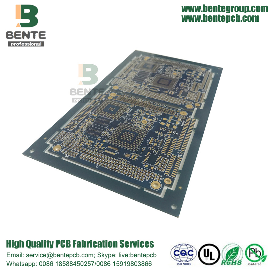 Blind/Buried via 8 Layers Prototype PCB Hole in PAD