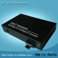 Convertisseur vidéo et audio de sécurité 10 / 100M Convertisseur de média fibre optique Ethernet automatique