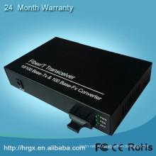 Мониторинг безопасности видео и аудио конвертер 10/100m Автоматическ-переговоров Ethernet на волоконно-оптических Медиа конвертер