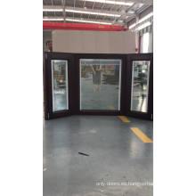 American OAK madera de la bahía y la ventana de proa con persianas integradas